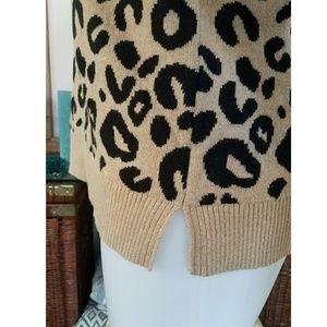 c52cda3480 A New Day Sweaters - Black   Tan Leopard Print Pullover Sweater 1X